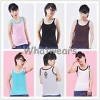 Les Lesbian Undershirt GL Tomboy Chest Binder Slim Fit Vest Tops J0024 GBW