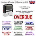 ACCOUNTS SELF-INKING RUBBER STAMP TRODAT 4912 RED INK, OVERDUE FINAL NOTICE ETC