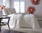DIAMOND TUFTED CHENILLE BEDSPREAD AND PILLOW SHAM SET, ALL COTTON image
