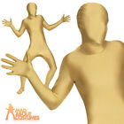Gold Second Skin Suit with Bum Bag Stag Party Gimp Mens New Fancy Dress Costume