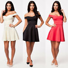 Women Sexy Skater Off Shoulder Ball Gown Celebrity Party Cocktail Club Dress