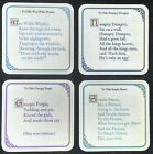 Very Funny Coasters Adult humour YE OLD ROTTEN RHYMES NEW