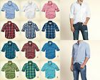New Hollister by Abercrombie Men Classic Pattern Plaid Shirt Muslce Vintage Size