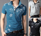 4 Color KD76 New Fashion Men's T-shirt Casual Slim Fit Short Sleeve Polo Shirt