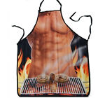 Sexy Cooking superman Apron Novelty Funny DINNER PARTY BBQ muscle Wonder woman