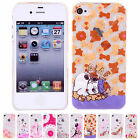 New Design Cute Patterns Hard Back Shell Cases Covers Skins For iPhone 4/4S