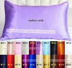 1pc 100% Top Grade Silk Filled Pillows + 19MM 100% Silk Pillowcase 20 Colors