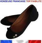 ballerines femme noires neuves pointure taille neuf chaussures plates int cuir