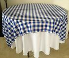 "20 Checkered Tablecloths 60""×60"" Square Overlays Polyester Gingham Buffalo Check"
