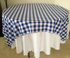 "25 Checkered Tablecloths 60""×60"" Square Overlays Polyester Gingham Buffalo Check"