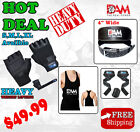 GYM WEIGHT LIFTING GLOVES BODY BUILDING BELT LIFTING STRAP GYM SINGLET HOT DEAL