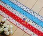 "1""(U pick) Anchor& Star Sailor Printed Grosgrain Ribbon hair Bow 5/10/20/50 Yds"