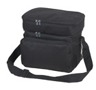 """Insulated Lunch Box Cooler Bag 2 Compartments Beer Drink Water Strap Pockets 10"""""""