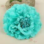 Silk Flower Colorful Artificial Peony Hair Head Home Women Wedding Party Decor
