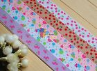 "1""(U PICK) Lollipops Cherry Printed Grosgrain Ribbon hair Bow 5/10/20/50 Yds"