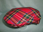 Men,s traditional pure wool Scottish tartan golf golfing flat cap  FROM SCOTLAND