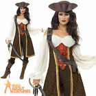 Ladies Pirate Wench Fancy Dress Costume High Seas Caribbean Buccaneer Outfit