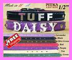 Puppy Collars Personalized - Custom Puppy Collars with Rhinestone-Chrome Name XS