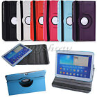 360 Degree Rotating Leather Smart Case Stand For Samsung Tablets 7.0/8.0/10.1""