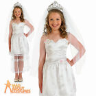 Child Princess Bride Costume Kids Wedding Fancy Dress Outfit Book Day Age 4 - 12