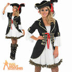 Lady Pirate Girl Costume Buccaneer Woman Ladies Womens Fancy Dress Outfit 8 - 30