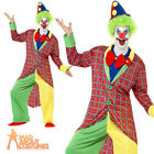 Adult La Circus Clown Costume Mens Circus Fancy Dress Outfit Male New