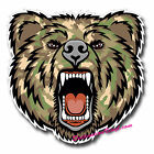 2 x Glossy Vinyl Stickers - Army Camo Angry Bear Cool Laptop Decal #0134