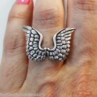 Angel Wing Ring - 925 Sterling Silver - Angel Wings Ring Jewelry Fly Faith *NEW*