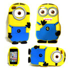 3D Despicable Me Minion Case Soft Gel Silicone Case Cover For Apple iPod Touch 4