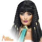 Cleopatra Wig Egyptian Queen of the Nile Black Womens Fancy Dress Costume