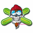 2 x Glossy Vinyl Stickers - Snowboarder Snowboard Laptop Toolbox Decal #0179