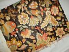 JAY YANG WOODCO FABRIC FLORAL JACOBEAN BROWN GOLD MELON GREEN