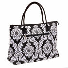 Women's Damask Print Quilted Tote Shopping Purse Bag NEW NWT