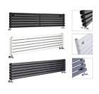 Designer Radiator Horizontal - Wide Oval Radiators - Black , White , Anthracite