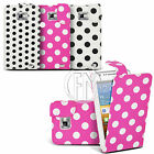 POLKA DOT LEATHER CASE FLIP CASE COVER POUCH FOR SAMSUNG GALAXY S2 I9100