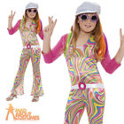 Child Hippy Costume Groovy Glam 60s 70s Disco Hippie Fancy Dress Outfit New