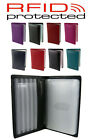 Soft Leather RFID Protected Credit Card Holder Wallet Case In 8 Colours