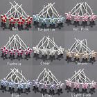 Wholesale 20pcs Swarovski Crystal Wedding Bridal Diamante Flower Hair Pins Clips