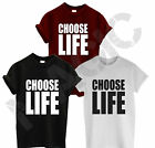 CHOOSE LIFE T SHIRT WHAM RETRO 80'S GEORGE MICHAEL SWAG HIPSTER HIP HOP GIFT NEW