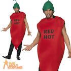 Red Hot Chilli Pepper Costume Mexican Stag Party Fancy Dress Outfit