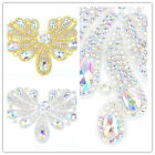 Hot Handmade AB Glass Rhinestone sewing Trimmings Costume Decoration Appliques