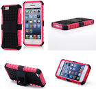 Pink HEAVY DUTY TOUGH SHOCKPROOF WITH STAND HARD CASE COVER FOR iPhone5C TZJP