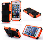 Orange HEAVY DUTY TOUGH SHOCKPROOF WITH STAND HARD CASE COVER FOR iPhone5C TZJ