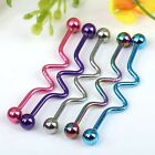 1pc 14G Stainless Steel Twist Ball Industrial Ear Rings Piercing Punk Jewelry