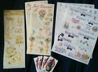 Scrapbooking Themed Sticker Sets - Graduation or Wedding
