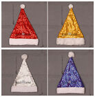 Chic NEW Cute Soft Plush Ball Shiny Sequins Winter Warm Christmas Santa Hat HOT