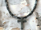 Men's Powerful Magnetic Hematite CROSS NECKLACE AAA + STRONG FREE SHIPPING