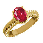 2.30 Ct Oval Last Dance Pink Mystic Quartz 925 Yellow Gold Plated Silver Ring