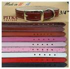 Leather Dog Collars - Studded Dog Collars made in USA - Medium Dogs Collars