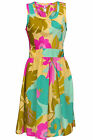 DOROTHY PERKINS NEW YELLOW PINK GREEN FLORAL PRINT OPEN BACK SUN DRESS 6-18 UK